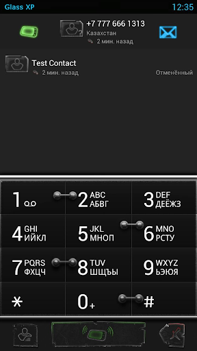 exDialer Glass XP Theme