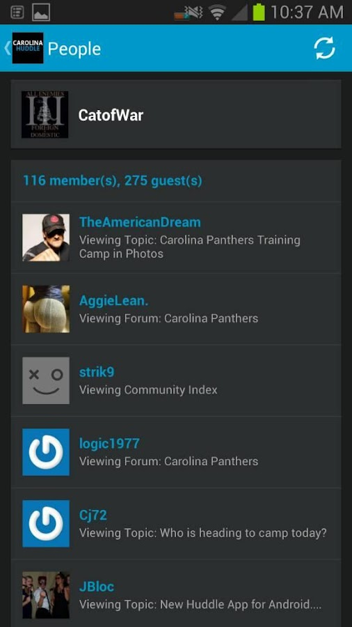Carolina Huddle- screenshot