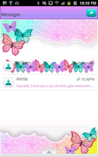 GO SMS - Pastel Glitter Sky- screenshot thumbnail