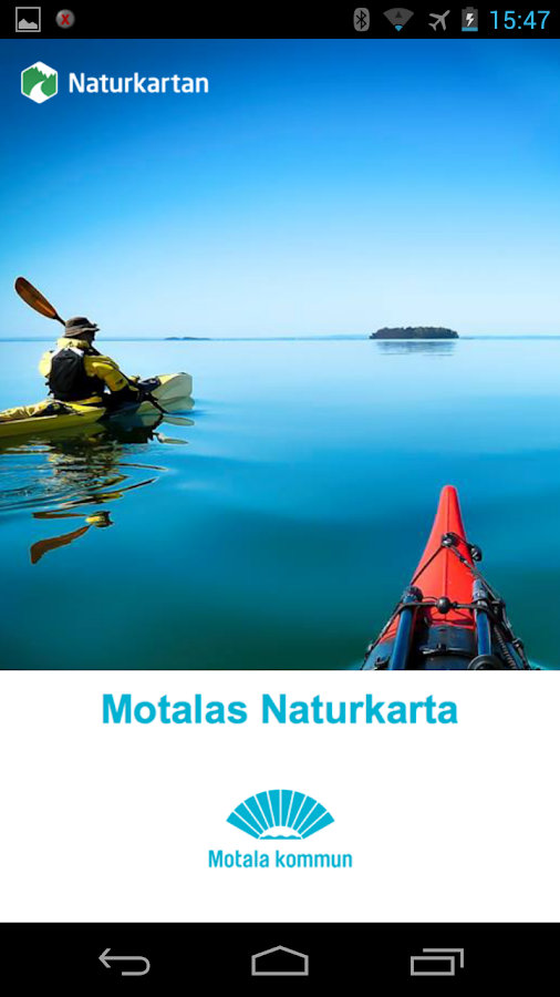 Motalas Naturkarta- screenshot