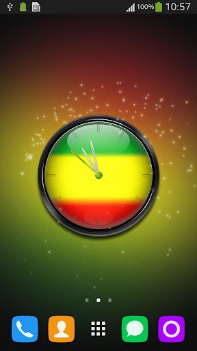 Rasta Clock Live Wallpaper
