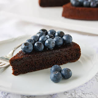 Chocolate-Blueberry Cake.