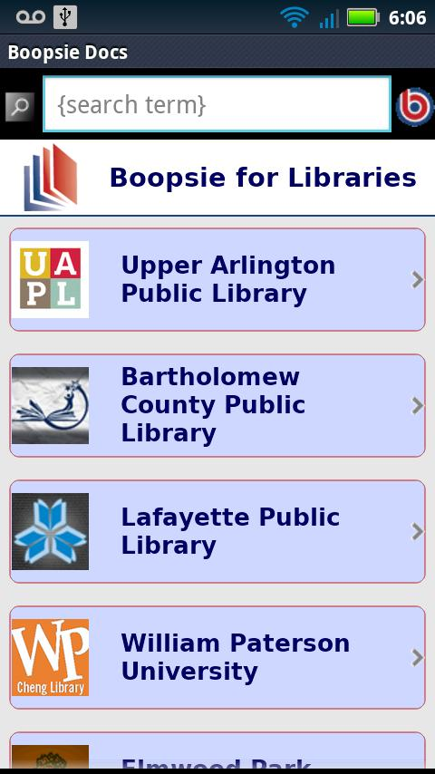 Boopsie for Libraries- screenshot