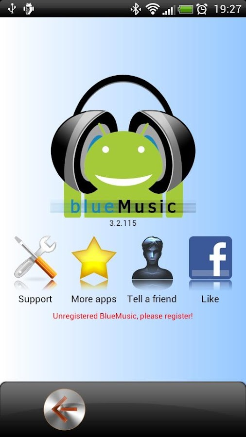BlueMusic Demo - screenshot