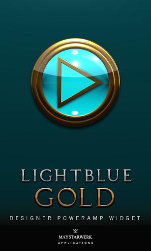 Poweramp Widget Lightblue Gold