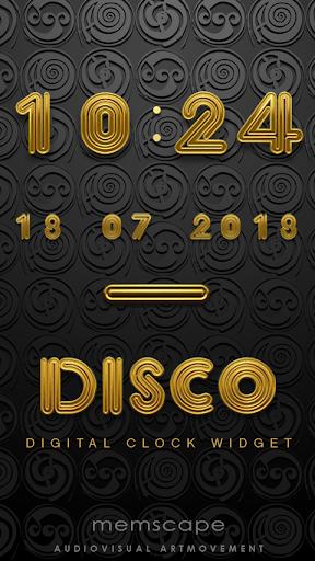 DISCO Digital Clock Widget