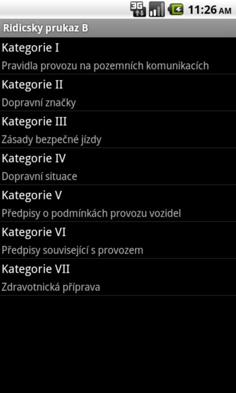 Ridicsky prukaz kat. B - screenshot