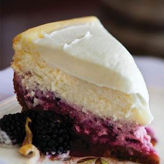 Lemon-blackberry Cheesecake.