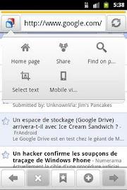 Zirco Browser Screenshot 3