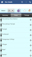 Screenshot of Chennai MTC Info