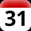 CZ holidays calendar widget icon
