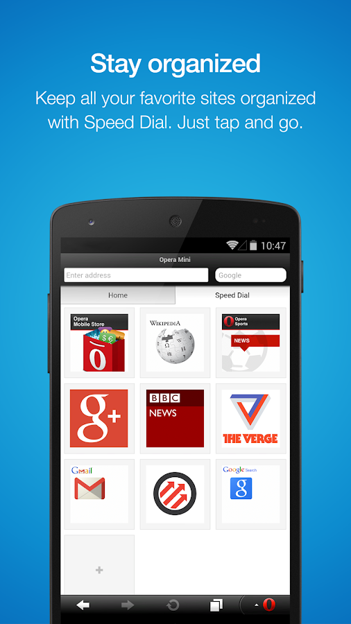 Opera Mini – Fast web browser - screenshot