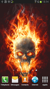 Skull In Fire LWP Animated - screenshot thumbnail