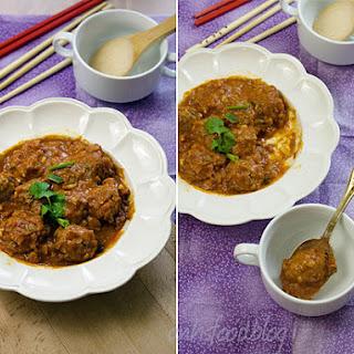 Vietnamese Beef Meatballs In Tomato Sauce.