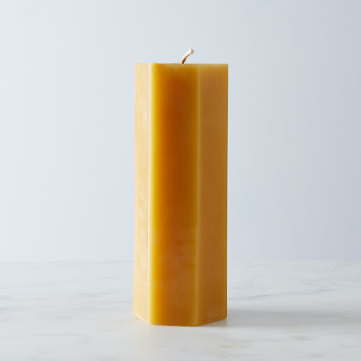 Hexagonal Beeswax Pillar Candle
