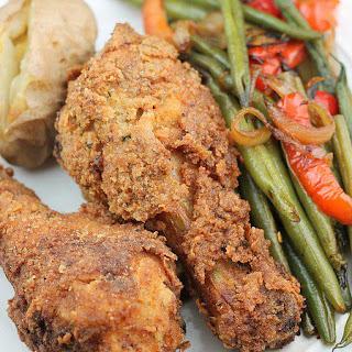 Oven Fried Buttermilk Chicken.