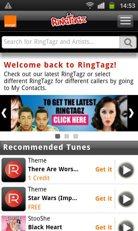 RingTagz – Music for Callers - screenshot