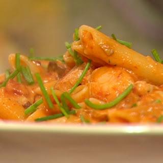 Seafood Pasta with Sherry Tomato Cream Sauce Recipe
