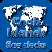Cook Islands flag clocks