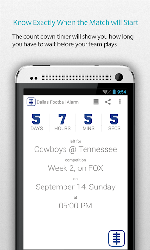 Dallas Football Alarm Pro