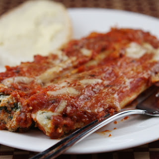 Spinach & Cheese Stuffed Manicotti
