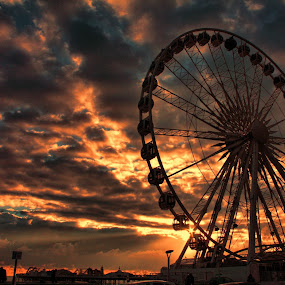 Brighton Wheel by Dean Thorpe - City,  Street & Park  Amusement Parks