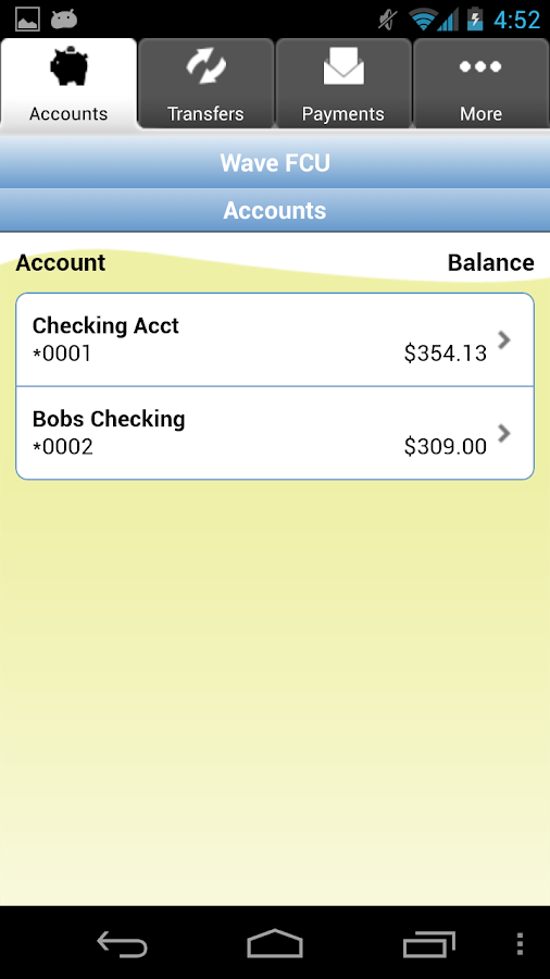 Wave Federal Credit Union - screenshot