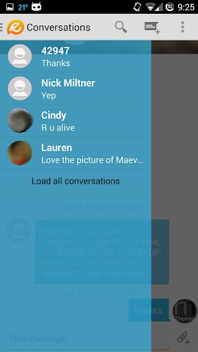 Evolve SMS Holo Light Theme