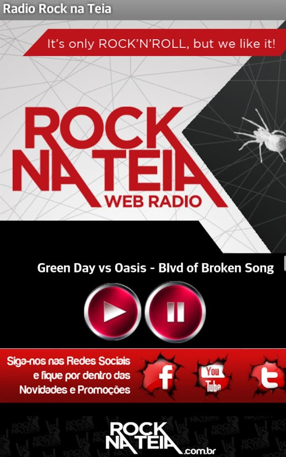 Rock na Teia - Web Radio- screenshot