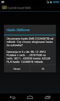 Screenshot of Czytnik haseł SMS