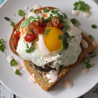 Open Face Black Bean Cake Breakfast Sandwich and a Hamilton Beach Review and Giveaway