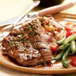 Steak & Potatoes with Anchovy-Caper Vinaigrette.