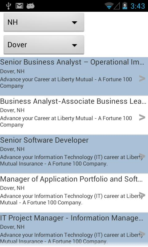 Liberty Mutual Careers - screenshot