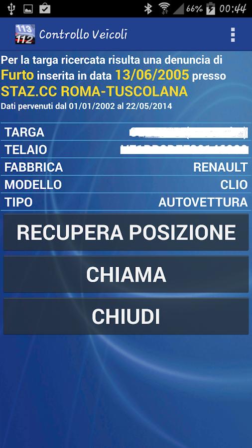 Controllo Veicoli Free - screenshot