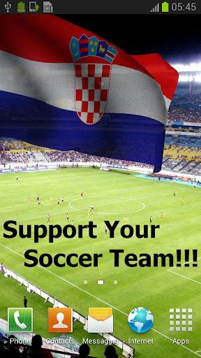 3D Croatia Flag Anthem LWP