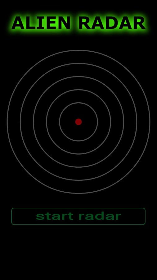 Alien Radar Simulator - screenshot