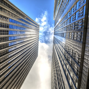 Between  by Hany Todros - Buildings & Architecture Office Buildings & Hotels ( building, sky, cloud, hany todros, usa, san francisco )