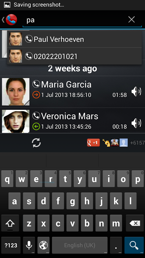 Galaxy Call Recorder- screenshot