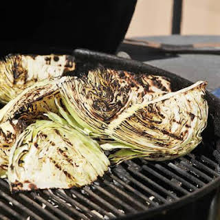 Grilled Cabbage With Blue Cheese Dressing.