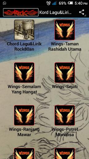 Kord Lagu Lirik Rock80an