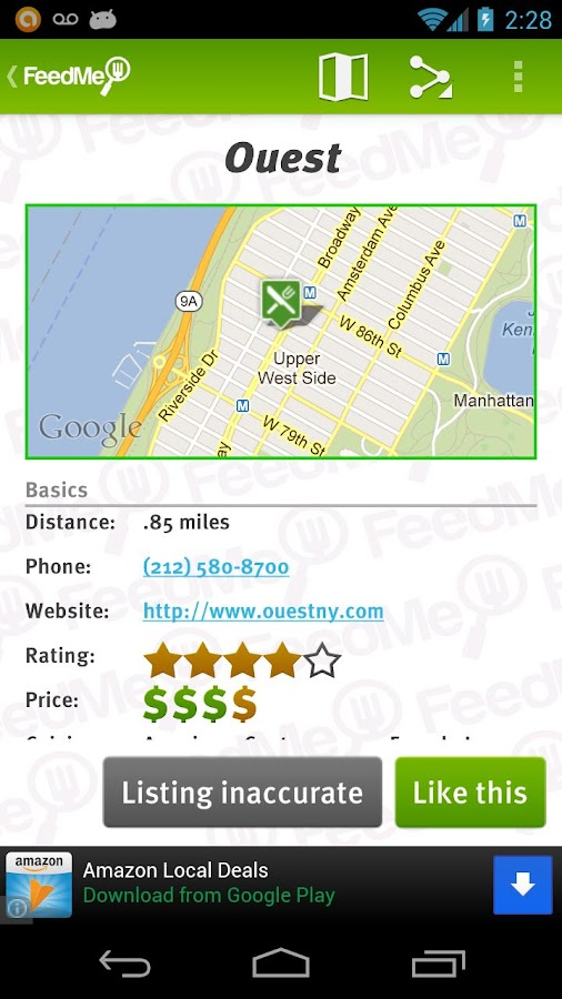 FeedMe (Restaurant finder) - screenshot