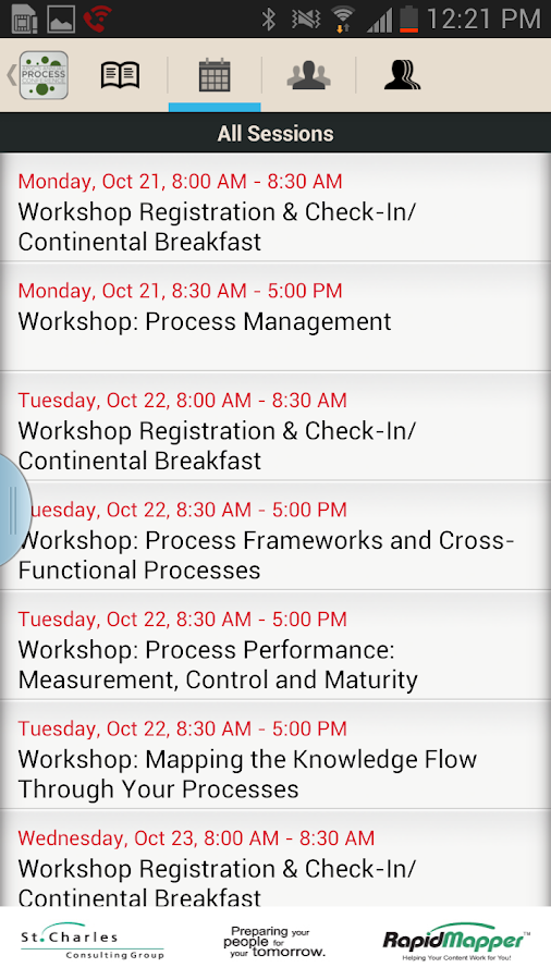 APQC 2013 Process Conference - screenshot