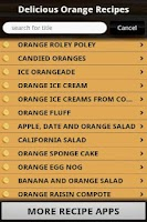 Screenshot of Delicious Orange Recipes