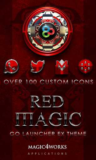 GO Launcher Theme Red Magic