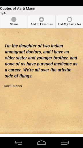 Quotes of Aarti Mann