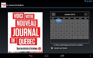 Screenshot of Journal de Québec - éditionE