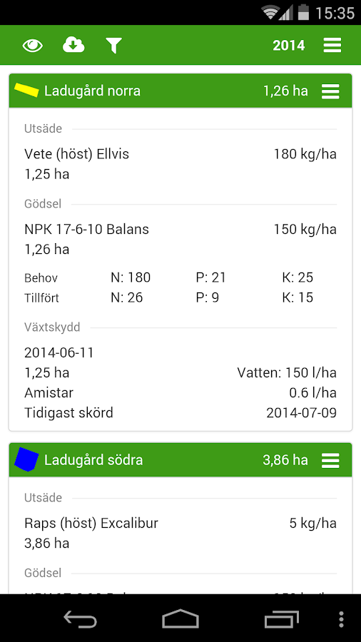 DataVäxt Mobile- screenshot