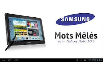 Screenshot of Mots Mêlés pour Galaxy 10.1