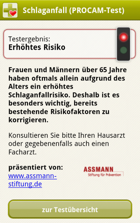APPzumARZT – Screenshot
