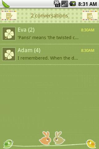 Easy SMS Lucky Clover theme - screenshot